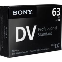 Tape Minidv Sony Professional Standart Dvm63ps - Nuevo Model