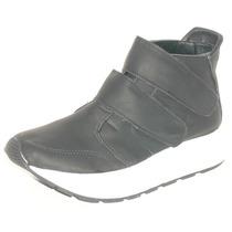 Zapatillas Botitas Plataforma Con Abrojo Y Cordones Botas