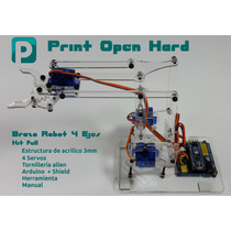 Brazo Robot 4 Ejes Edu Arduino Raspberry Kit Full Mearm