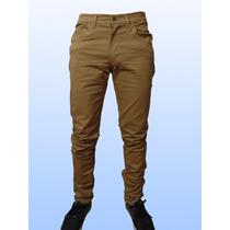 Pantalón Gabardina Entallado Elastizado Hombre Colores
