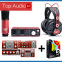 Focusrite Scarlett Studio Set Kit Grabacion 2i2 * Top Audio*