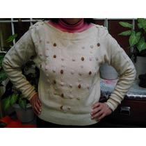 Pullover, Sweater Con Bordados A Mano