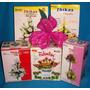 25 Pares Moldes P/hac Flores C/ Goma Eva - Cal Orq Lir Ful M