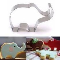Molde Cortante Elefante Fondant Cupcake Reposteria Porcelana