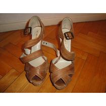 Sandalias En Color Marron Talle 38 De Viamo