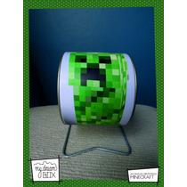 Alcancía Giratoria Souvenir Personalizada Minecraft Creeper