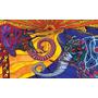 Elefante Pareja En Tela Canvas De 100x60 Cm - Exelente Cali