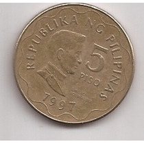 Filipinas Moneda De 5 Piso Año 1997 !!