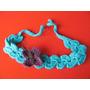 Vincha Tejida Al Crochet Con Aplique De Mariposa
