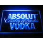 Cartel Led Absolut Vodka Acrilico Para Colgar Varios Colores