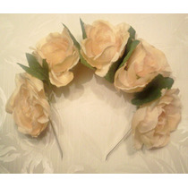 Vincha Corona De Flores Grandes Flower Crown