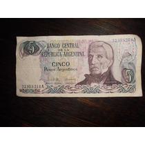 Billete 5 Pesos Argentinos