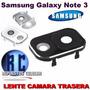 Cubre Lente Camara Trasera Samsung Galaxy Note 3 Bco Neg 2x1