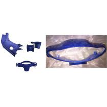 Kit Cubre Piernas Gilera Smash Azul Con Cubre Opticas Azul
