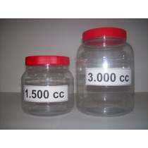 --10 Unidades--frasco , Envase 1500 Cc, Plastico Cristal