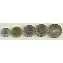 Nueva Serie De 5 Monedas Colombia Año 2012 Fauna Bimetalicas