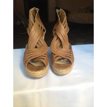 Zapatos De Cuero Con Plataforma Nº39