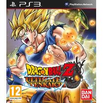 Dragon Ball Z Ultimate Tenkaichi Ps3 Zona 1 Nuevo Sellado