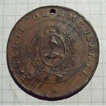 Ficha Patente De Ambulante 10 Pesos 1903 Rarisima