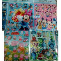 Stickers X10 Grandes Frozen Mickey Peppa Pig Futbol Minion
