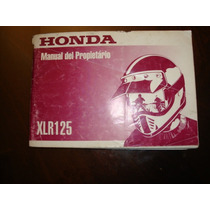 Honda Xrl 125 Manual De Usuario