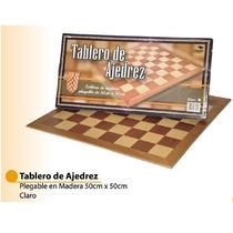 Bisonte - Tablero Ajedrez Madera - 50cm X 50 Cm