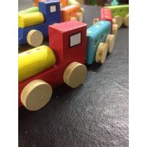 Tren De Madera Artesanal