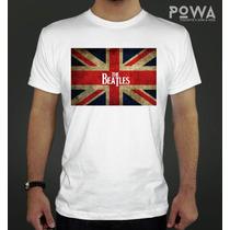 Remera Premium Hombre Estampada 100% Algodón Beatles - Powa