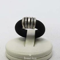 Anillo Italy Oro Blanco 18k Diamantes 0,30cts 4,8grs Brumat