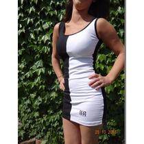 Vestido Corto Blanco Y Negro - X Mayor Consultar - Entregas