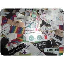 250 Etiquetas Estampadas Coser Ropa Marca Personalizadas