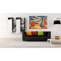 Africana En Canvas Bastidor De 100x70 Cm - Exelente