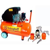 Compresor De Aire 2.5hp 50l + Kit 5 Piezas Envio Gratis