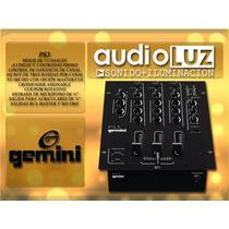 Mixer Consola Mezcladora Gemini Ps 3 De Tres Canales