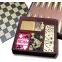Juego 6 En 1 Ajedrez Backgammon Dados Perinola Domino Naipes