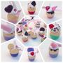 10 Dijes Cintas + Porta Dijes Cupcake O Torta 15 Años Anillo