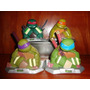 Muñecos Figuras Bustos Alcancias Tortugas Ninja X4 14 Cm