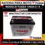 Batería Yuasa Para Tractor Corta Pasto 12n24-3 O -4 Incl Liq