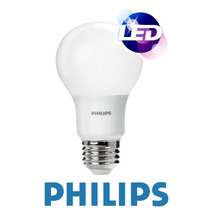 Lampara Led Philips 6w = 50w E27 Luz Fria 6500k Pack X10