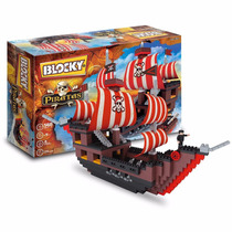 Blocky Piratas - Barco Pirata 560 Piezas Tipo Rasti Lego