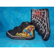 Zapatillas Pintadas Hombre Araña/ Spider Man