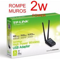 Adaptador Wifi Usb Tp Link Tl-wn 8200nd 300m 2 Antenas Desmo
