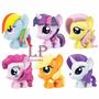 Pack Figura Little Pequeño Pony Adorno Tortas Y Jugar Hasbro