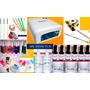 Super Kit Gel Uv + 6 Esmaltes Semi + Set Deco Uñas Nail Art