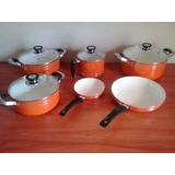 Set De Ollas  Ceramica Antiadherente 6 Piezas Envios Gratis