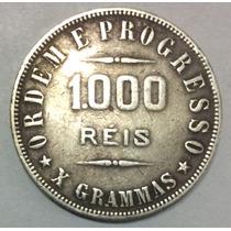 Moneda 1000 Reis 1908. Plata. Brasil