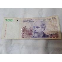 Billete 100 Pesos Con Leyenda Serie B B3708