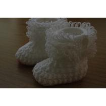 Botitas Con Flecos Para Bebé Tejidas Crochet - Nacimientos