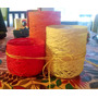 Fanales Set X 3 Centro De Mesa Hilo Y Yute Colores!!!