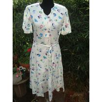 Retro Años 70 Vestido De Gabardina Modelo Spring